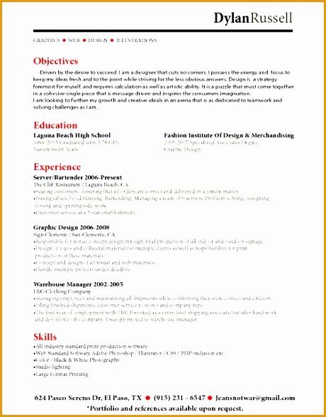 entry level bartender resume sample