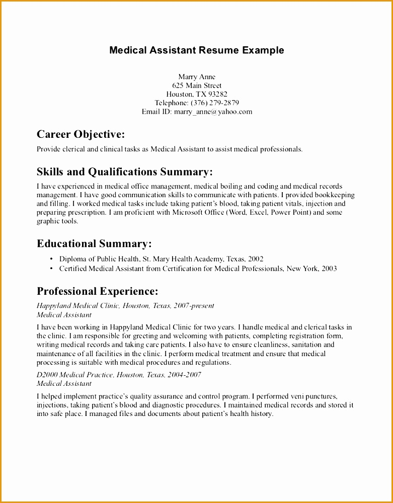child actor resume example