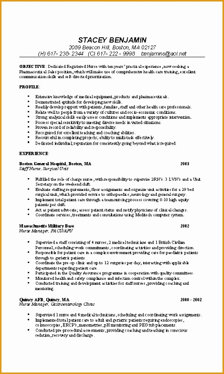 professional rn resume examples