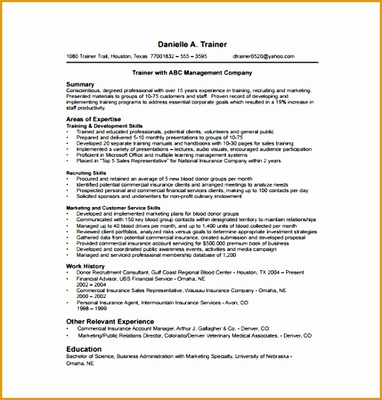 entry level recruitment consultant resume sample