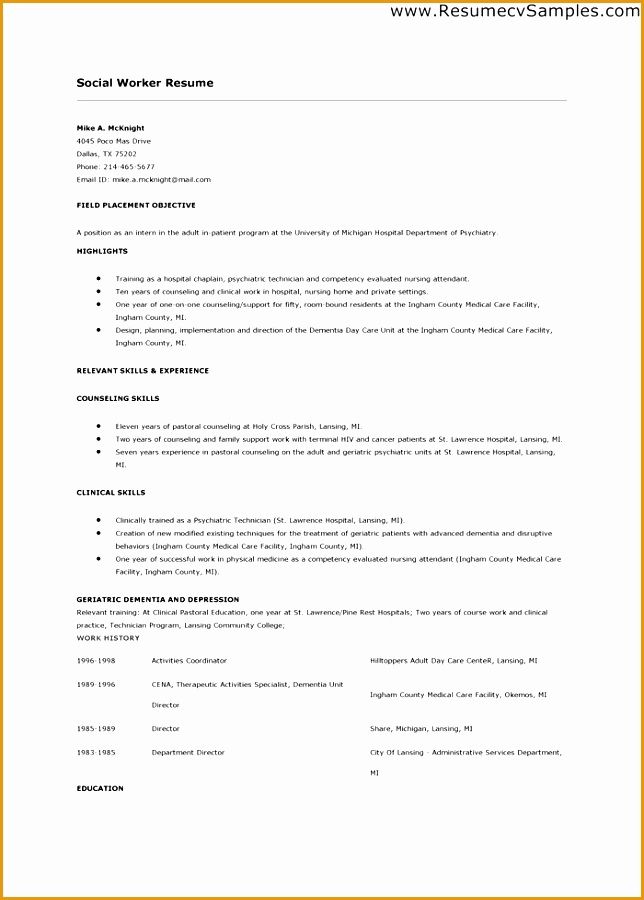 sample of social worker resume - Alannoscrapleftbehind - caseworker resume