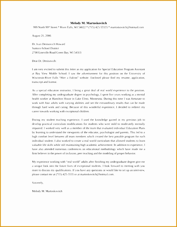 New special education teacher cover letter Term paper Sample