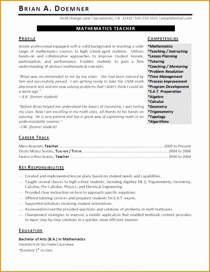 teacher resume template word - Jolivibramusic