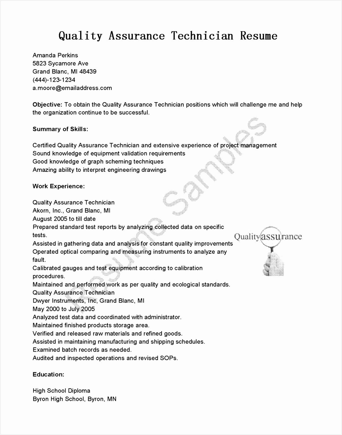 precision inspector resume
