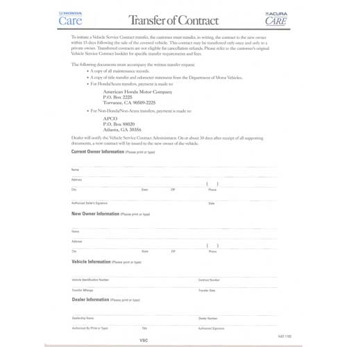 Acura Care application , brochures  contract