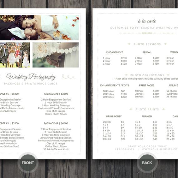 Resumes, Business Card, Infographics, Print Templates Cursive Q - price list design template
