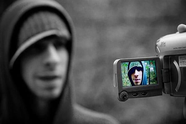 Videoblogger fotografía