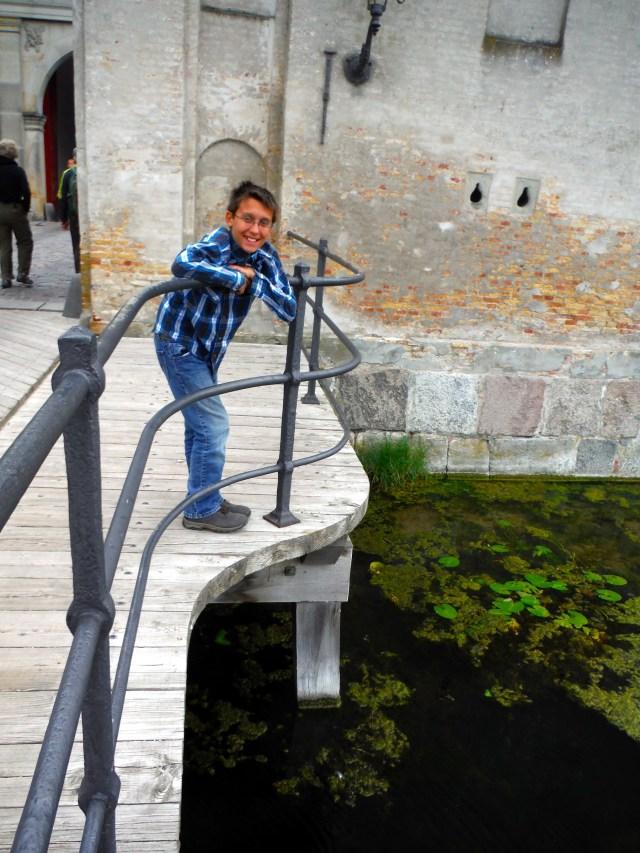 Ben looking at the moat at Kastellet, Copenhagen