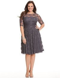 Flattering plus-size mother of the groom dresses