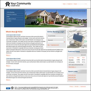 Credit Union Create a Site Website Templates - how to create a website template