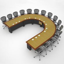 Lockheed Martin U-Shaped Conference Table
