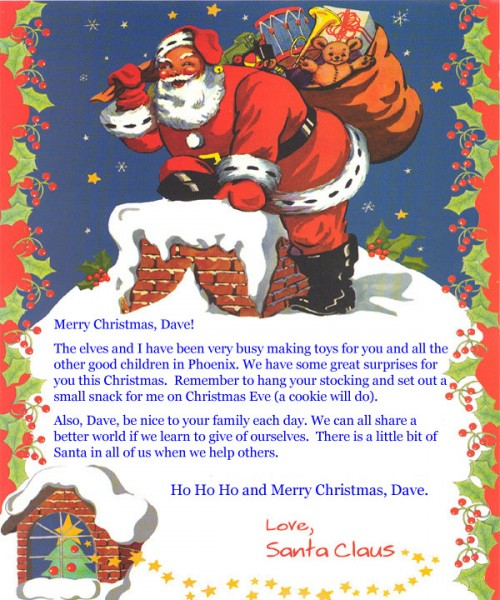 Letter from Santa Claus custombooksbycheryl