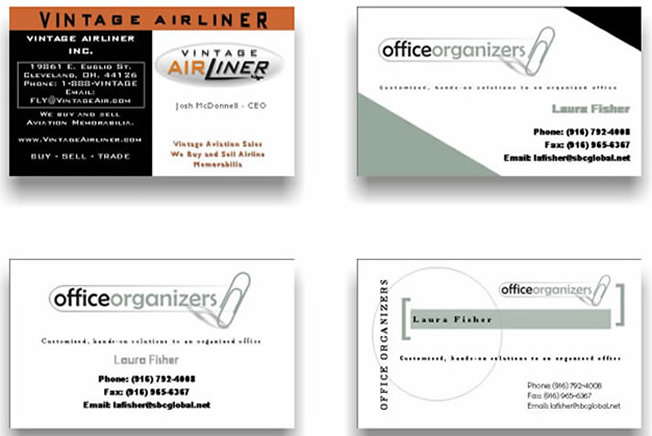 Images of Custom Design Business Cards, Logos, Examples, Templates - business card sample
