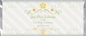 First Holy Communion 2017-03 custom and personalized candy bar wrapper design