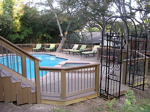 Hot Tub Decks In San Antonio Jr39s Custom Decks