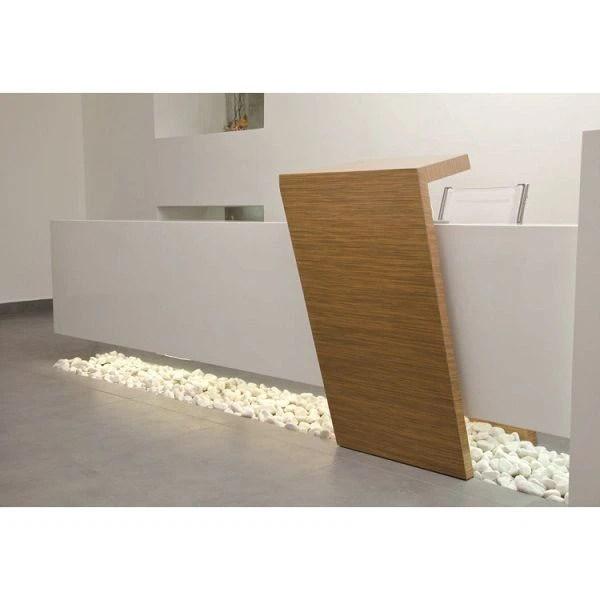 Salon Front Desk Furniture White Corner Reception Desk Corporate