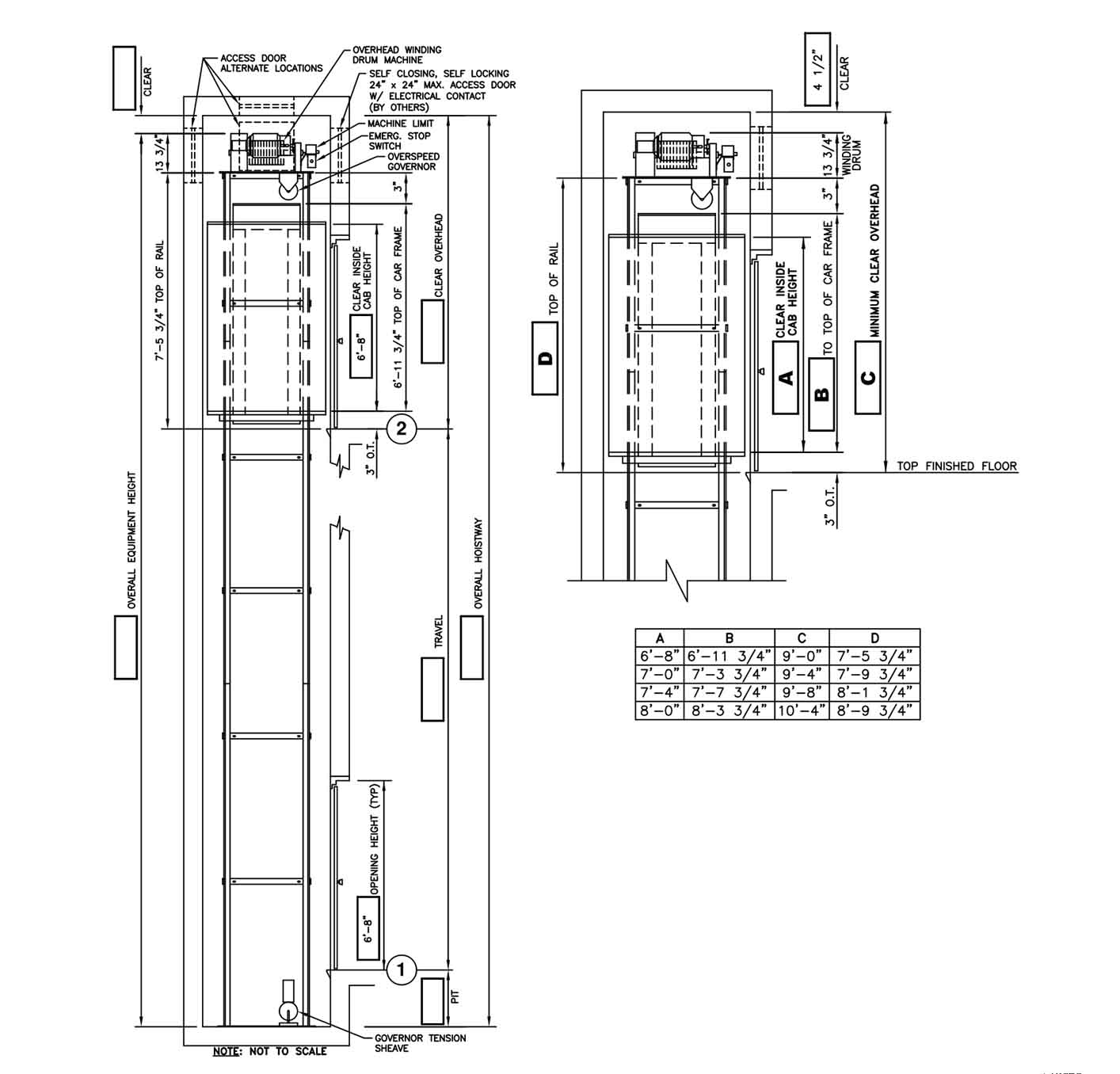 Plan Elevation Section Of Bus Stop : Door dwg bibliocad glass bifold with aluminum frame