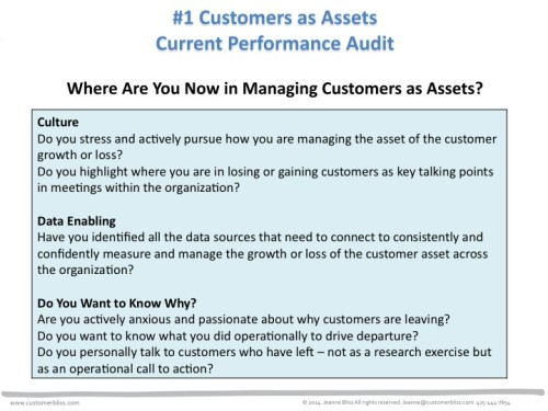 Where Are You Now in Managing Customers as Assets? - Customer Bliss