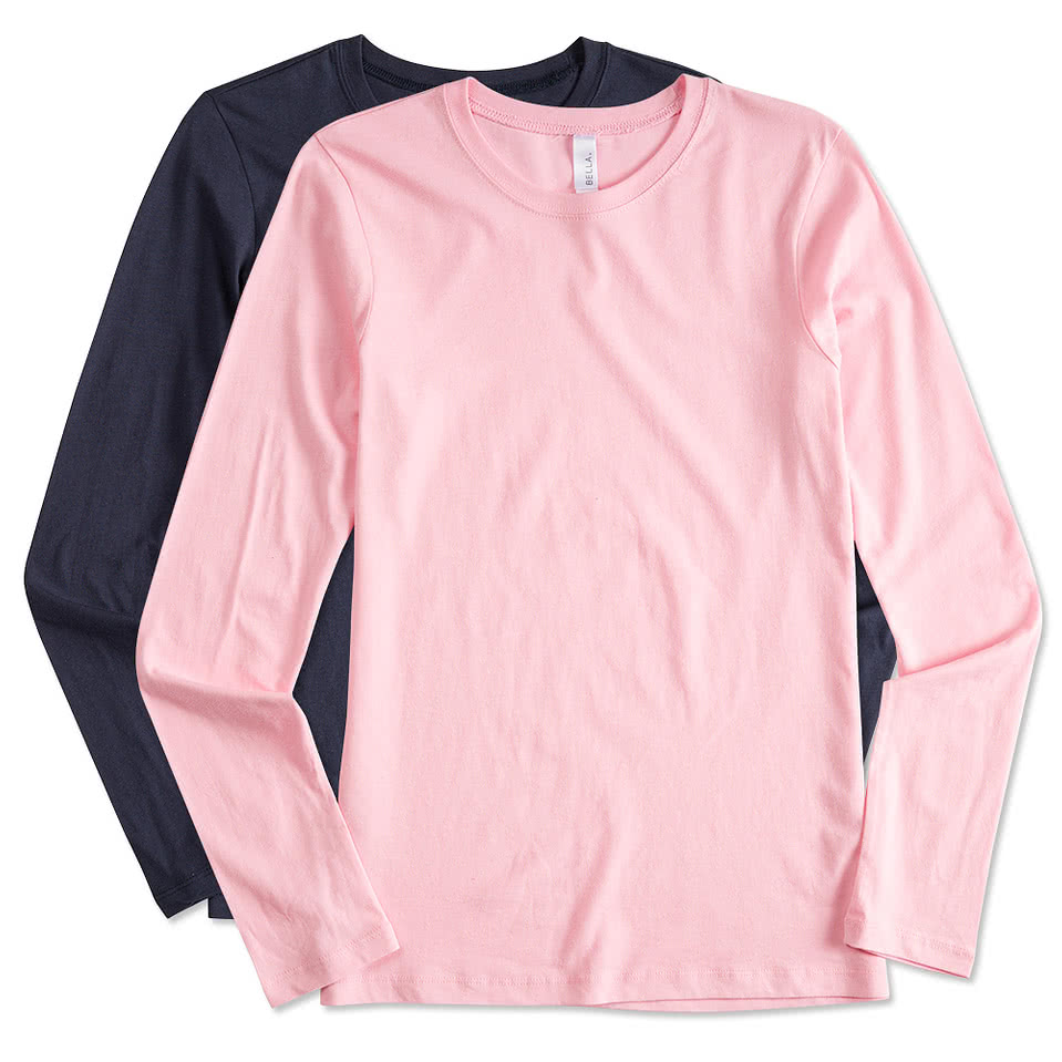 Custom bella juniors long sleeve jersey t shirt design long sleeve t shirts online at customink com