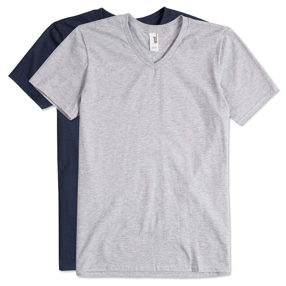 Anvil jersey v neck t shirt