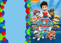 Paw Patrol Invitation template | Free Invitation Templates