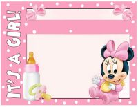 Minnie Mouse Baby Shower Invitation - Free Printable ...