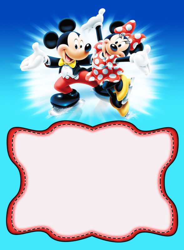 Fullsize Of Mickey Mouse Invitations Large
