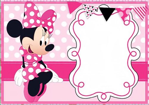 Medium Of Minnie Mouse Birthday Invitations