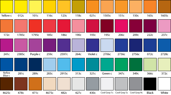 Pantone Colors - Custom Flag Company- Flag Maker- AGAS Mfg