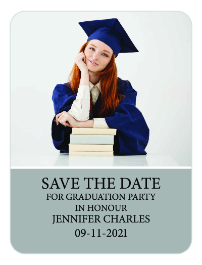 3x4 Custom Graduation Announcement Save the Date Magnets 20 Mil - how to create graduation invitations