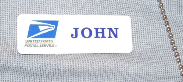 USPS namebadges, postal namebadges, post office namebadges , post