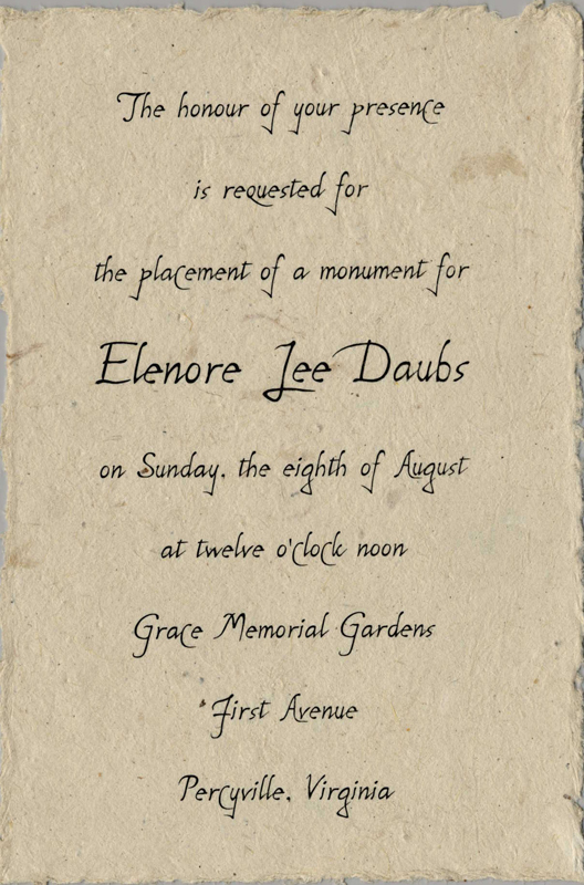 Memorial Invitations - Handmade - seed paper, pressed flowers - memorial service invitation wording