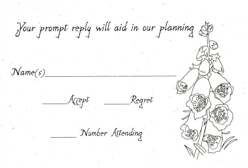 Delores\u0027s blog Bride in ivory strapless mermaid lace wedding dress - response card examples