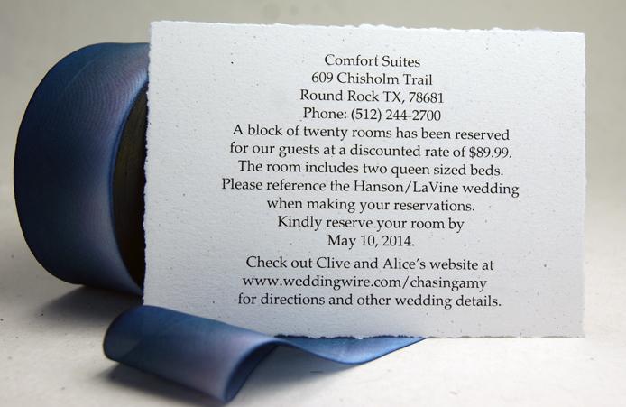 WEDDING ACCOMODATION CARDS THE BASICS \u2013 custompaper/blog