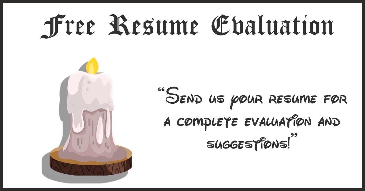 Free Resume Evaluation Custom Resumes - resume evaluation