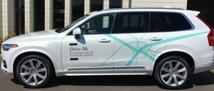 Wrap for Volvo's Self-driving Car Campaign