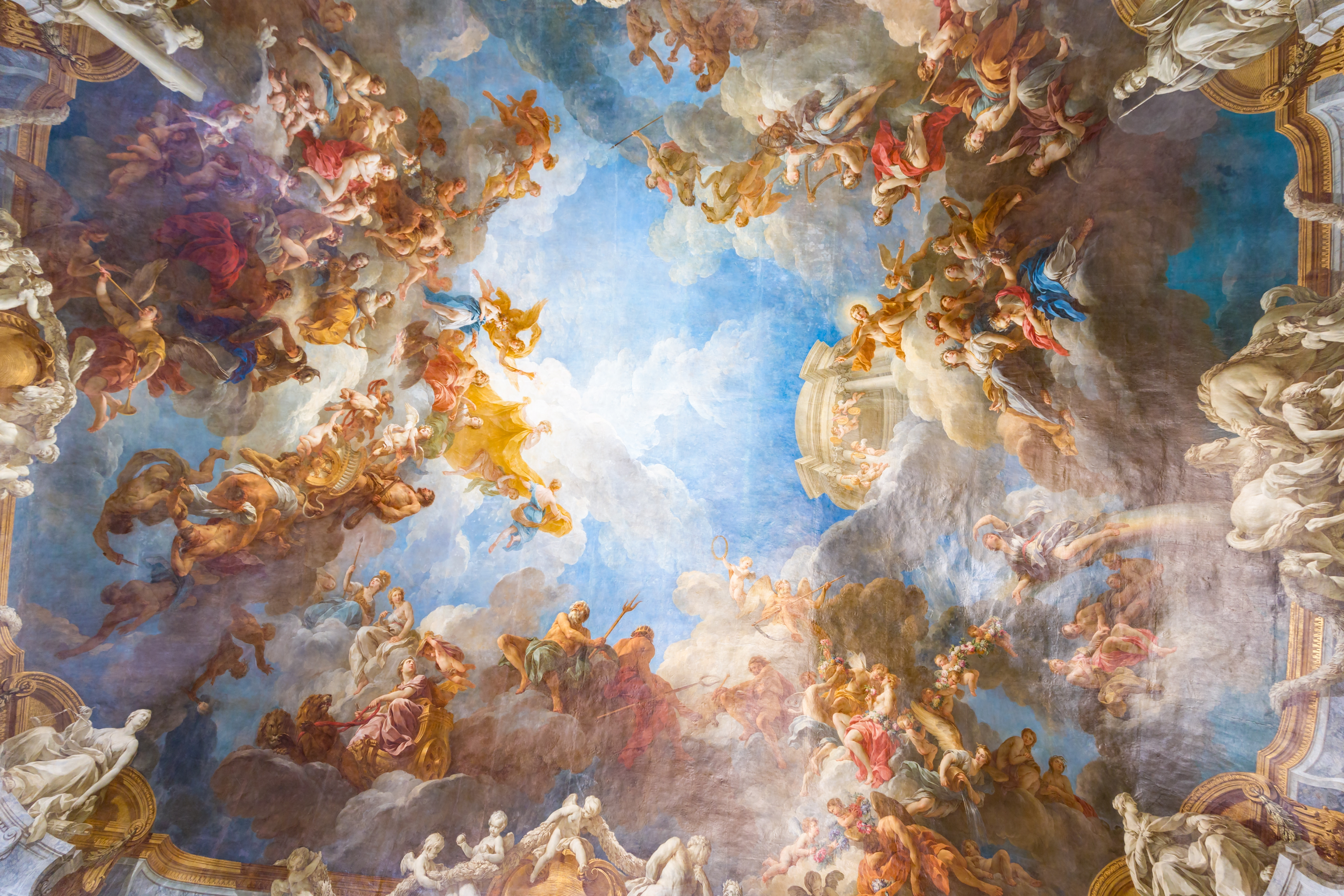 Ceiling painting of Palace Versailles