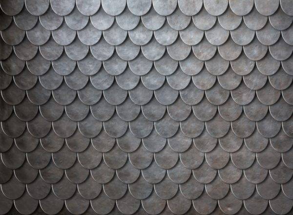 Black And White Wallpaper Living Room Rusty Metal Scales Armor Background Custom Wallpaper