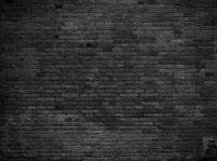 Wall - Black painted bricks - Custom Wallpaper