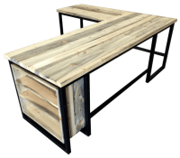 Popular Industrial Style L Shaped Desk #JY11