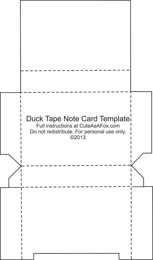 Duck Tape® Flash card Holder - flash card template