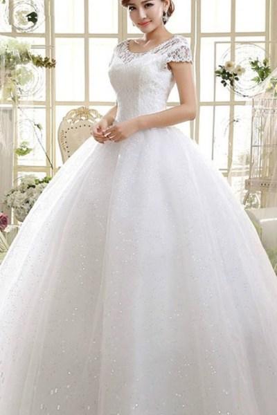 Wedding Dress Floor Length Ball Gown 2