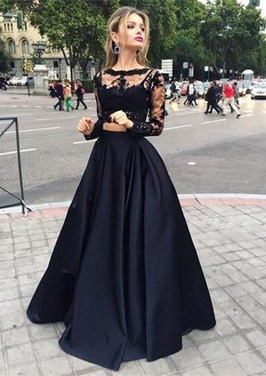 Gorgeous Ball Gown Bateau Floor-length Satin Prom Dress