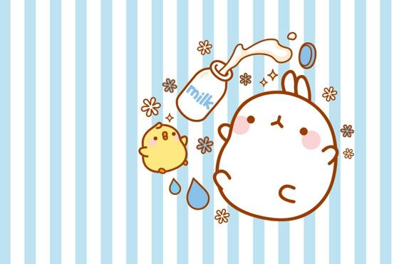 Cute Kawaii Pastel Wallpaper Cutedrop 187 Voc 234 Conhece O Molang O Coelhinho Coreano Que
