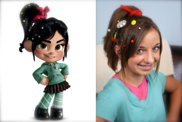 Heres how to get Vanellopes deliciouslyedible hairstyle. 1562 x 1056.Hairstyles Now And Then