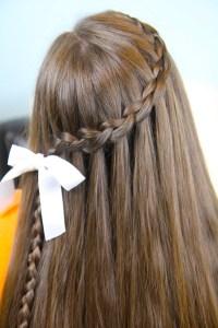 Dutch Waterfall Braid   Cute Girls Hairstyles   Cute Girls ...