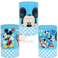 Disney Mickey Mouse Metal Trash Can Set with Top Lids ...