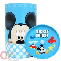 Disney Mickey Mouse Tin Trash Can Set w Top Lids 4pc Set ...