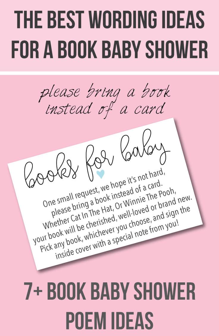 Book Baby Shower Invitations & Wording Ideas