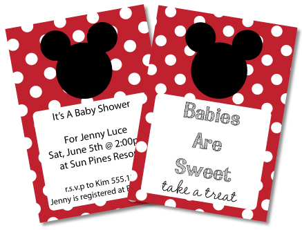 FREE Mickey Mouse Baby Shower Invitations  clipart - Minnie Mouse too! - free printable mickey mouse